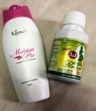 Set of Manjakani Vaginal Tightening Pill and Kacip Fatimah Feminine Wash for USD54