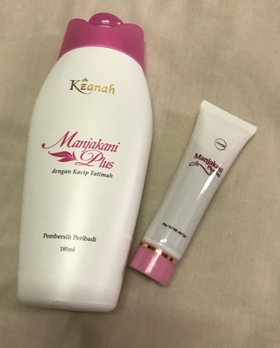 Combo purchase (1 set for USD51) of Manjakani Kacip Fatimah Feminine Wash and Manjakani Vaginal Tightening Gel