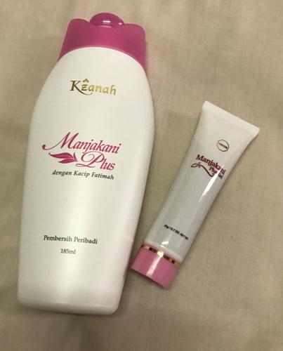 Combo purchase (1 set for USD51) of Manjakani Kacip Fatimah Feminine Wash and Manjakani Vaginal Tightening Gel